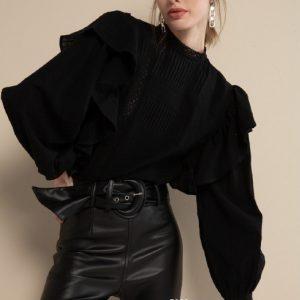 #5063 Camisa Barrie negra